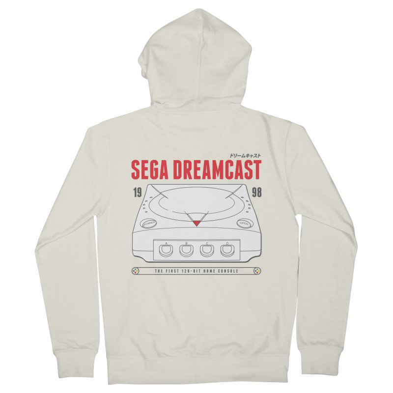 Sega Dreamcast Men's French Terry Zip-Up Hoody by tulleceria