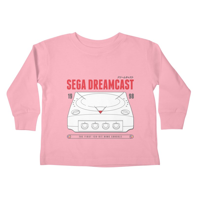 Sega Dreamcast Kids Toddler Longsleeve T-Shirt by tulleceria