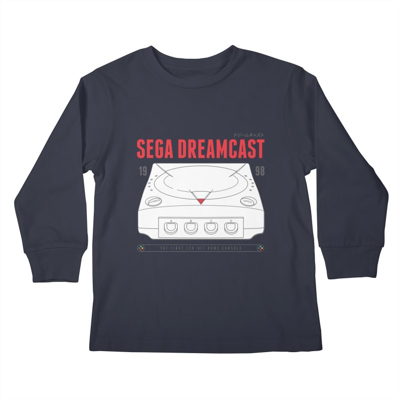 Sega Dreamcast Kids Longsleeve T-Shirt by tulleceria