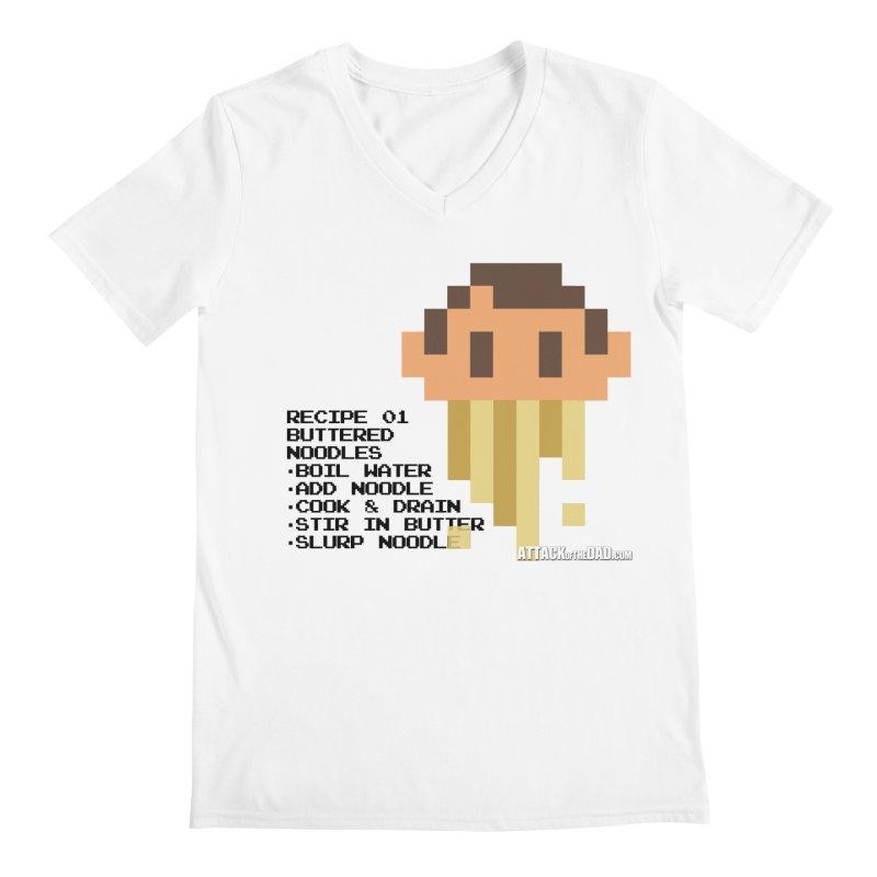 Buttered Noodles Men's V-Neck by turbo's Artist Shop