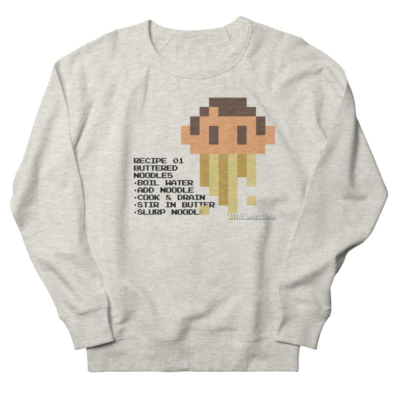Buttered Noodles Women's French Terry Sweatshirt by turbo's Artist Shop