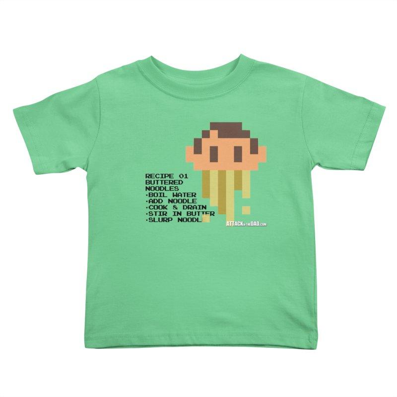 Buttered Noodles Kids Toddler T-Shirt by turbo's Artist Shop