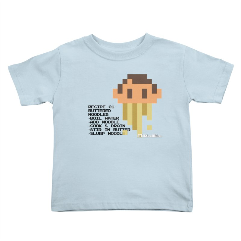 Buttered Noodles Kids Toddler T-Shirt by turbo's Artist Shop