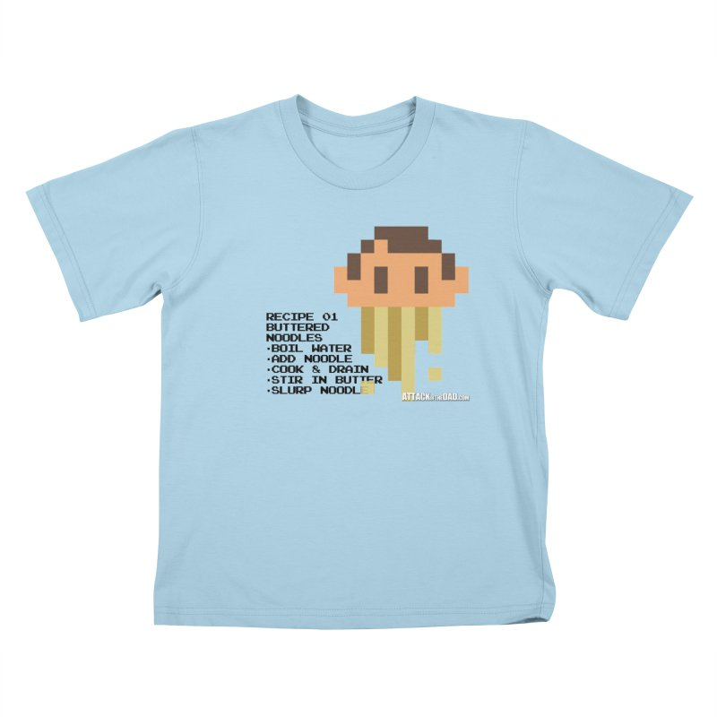 Buttered Noodles Kids T-shirt by turbo's Artist Shop
