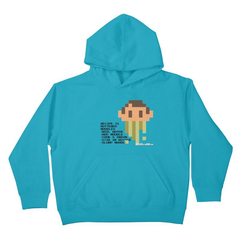 Buttered Noodles Kids Pullover Hoody by turbo's Artist Shop