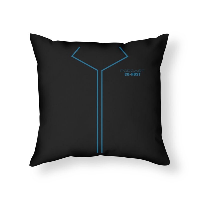 Podcast Co-Host Sleeveless Top (with sleeves) Home Throw Pillow by turbo's Artist Shop