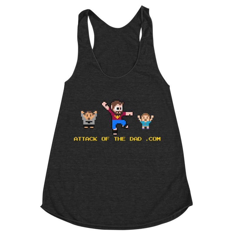 Attack of the Dad Women's Racerback Triblend Tank by turbo's Artist Shop