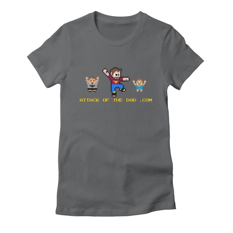 Attack of the Dad Women's Fitted T-Shirt by turbo's Artist Shop