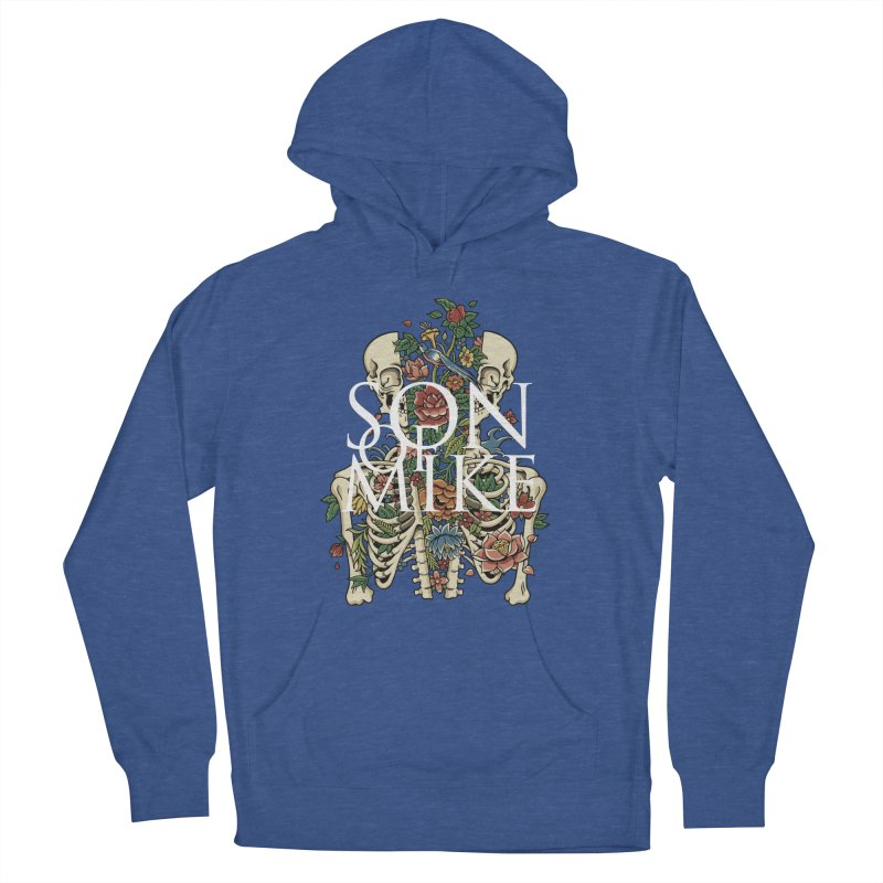 """Son of Mike """"Skeleton Flower"""" Men's French Terry Pullover Hoody by Turkeylegsray's Artist Shop"""