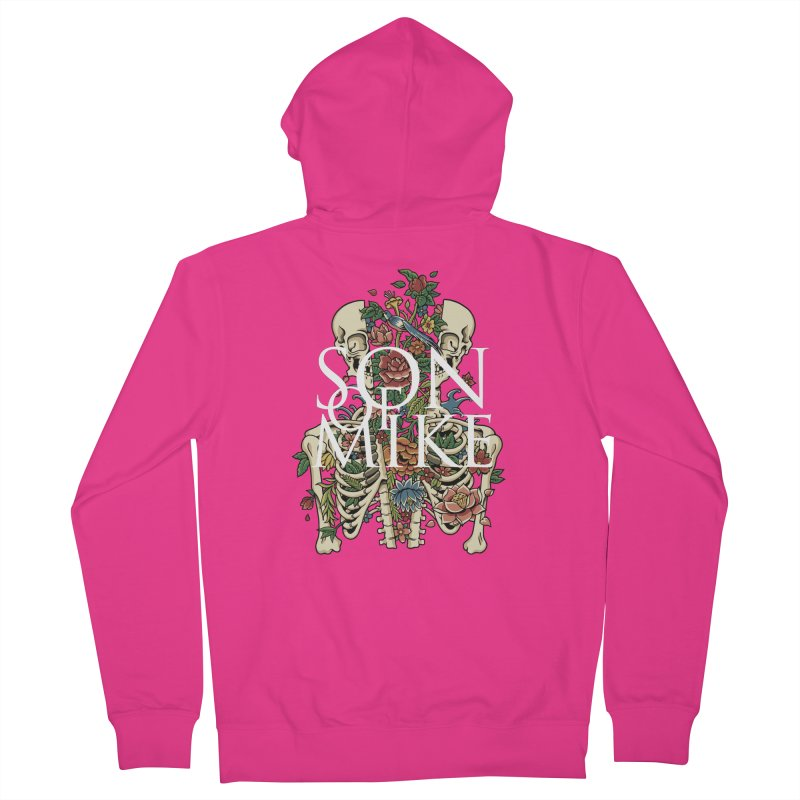 """Son of Mike """"Skeleton Flower"""" Men's French Terry Zip-Up Hoody by Turkeylegsray's Artist Shop"""