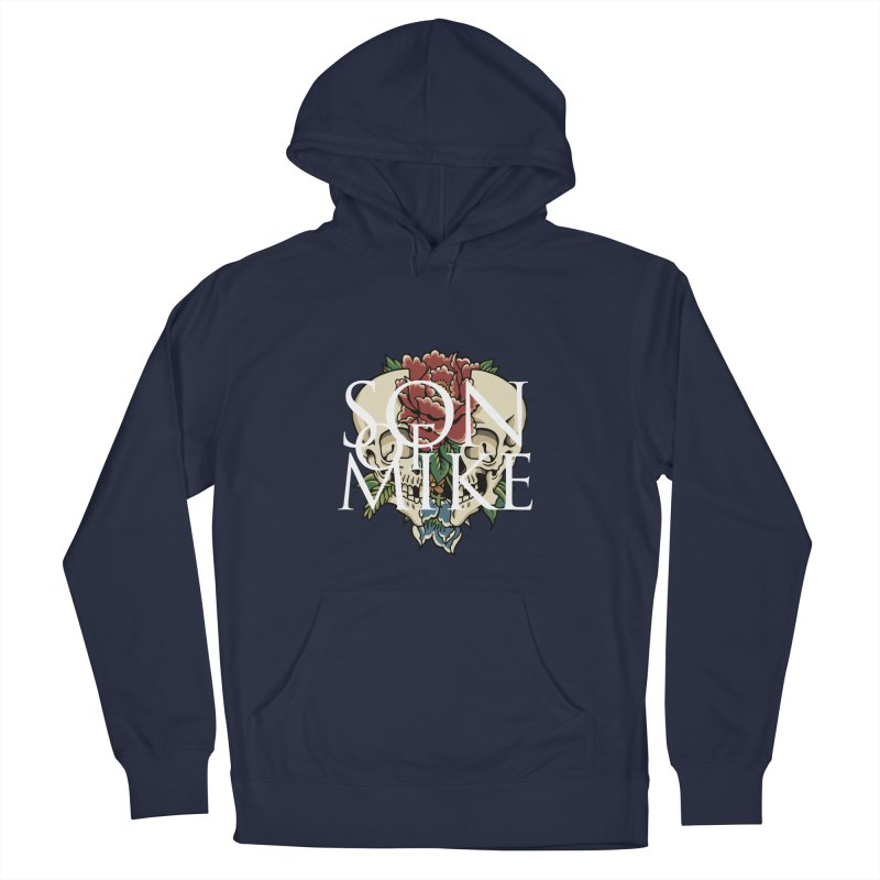 """Son of Mike """"Skull Flower"""" Men's French Terry Pullover Hoody by Turkeylegsray's Artist Shop"""