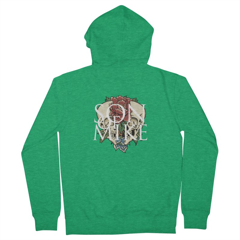 """Son of Mike """"Skull Flower"""" Men's French Terry Zip-Up Hoody by Turkeylegsray's Artist Shop"""