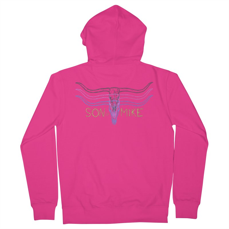 """Son of Mike """"Longhorn"""" Men's French Terry Zip-Up Hoody by Turkeylegsray's Artist Shop"""