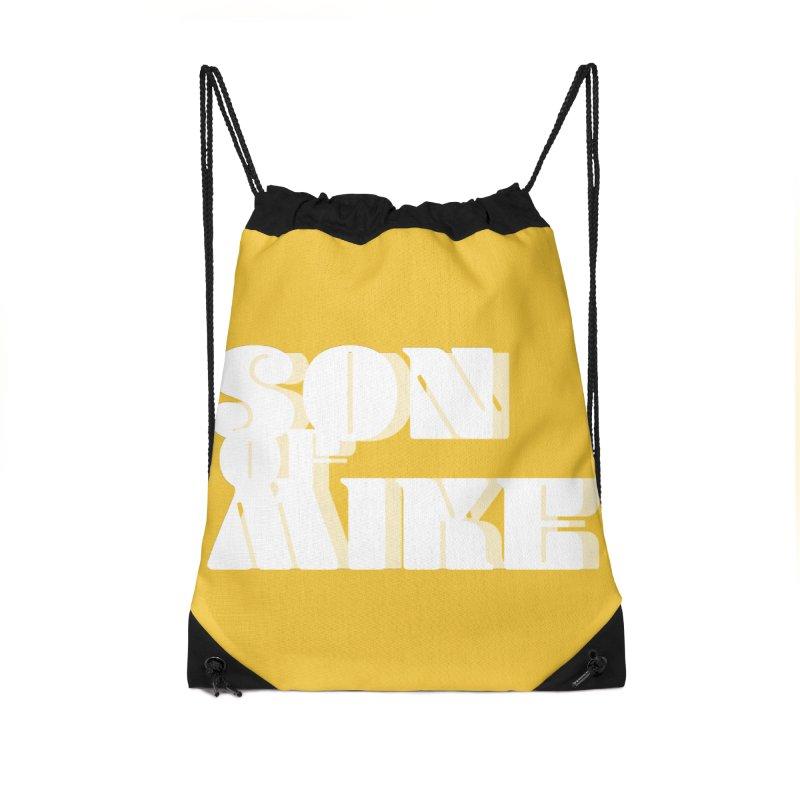 "Son of Mike ""Vintage"" Accessories Drawstring Bag Bag by Turkeylegsray's Artist Shop"