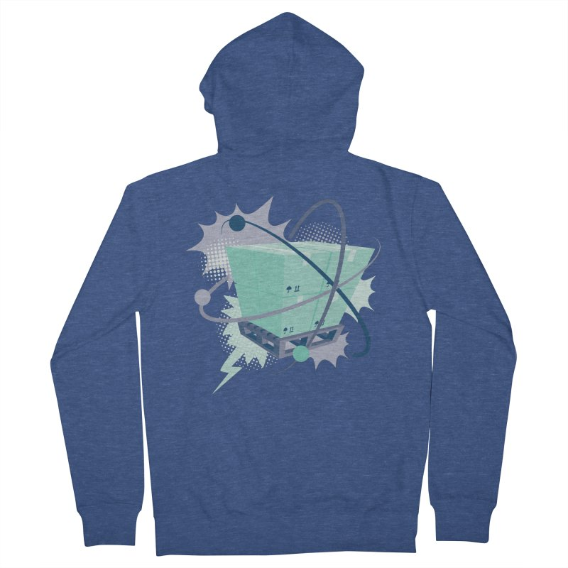 Atomic Crate Women's French Terry Zip-Up Hoody by Turkeylegsray's Artist Shop