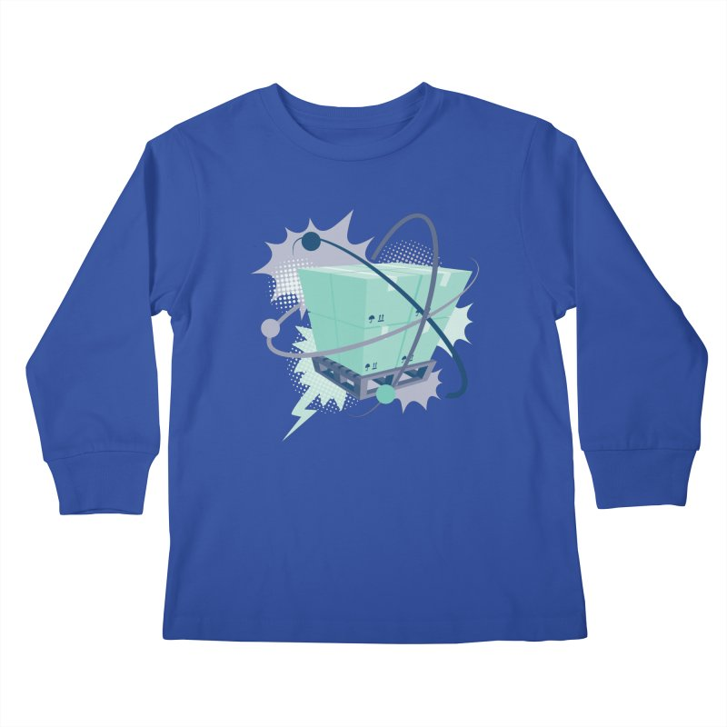 Atomic Crate Kids Longsleeve T-Shirt by Turkeylegsray's Artist Shop