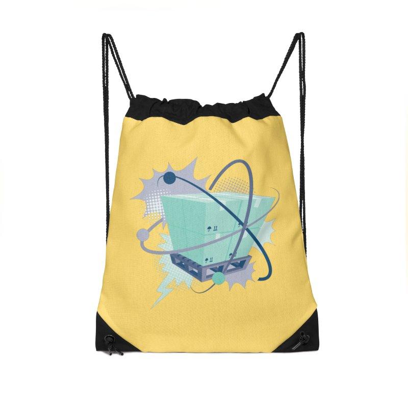 Atomic Crate Accessories Drawstring Bag Bag by Turkeylegsray's Artist Shop