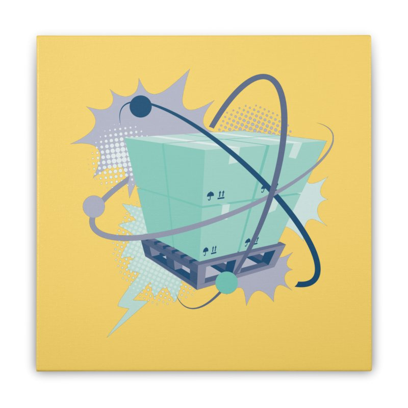 Atomic Crate Home Stretched Canvas by Turkeylegsray's Artist Shop