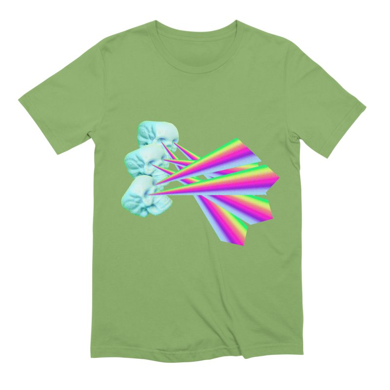 Rainbow Skull Men's Extra Soft T-Shirt by Turkeylegsray's Artist Shop