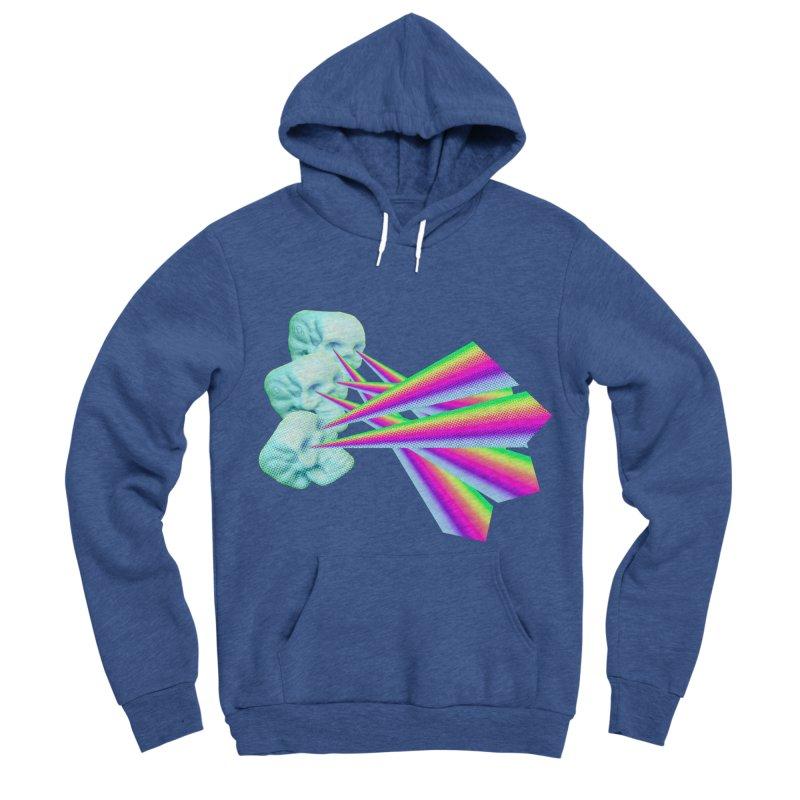 Rainbow Skull Men's Sponge Fleece Pullover Hoody by Turkeylegsray's Artist Shop