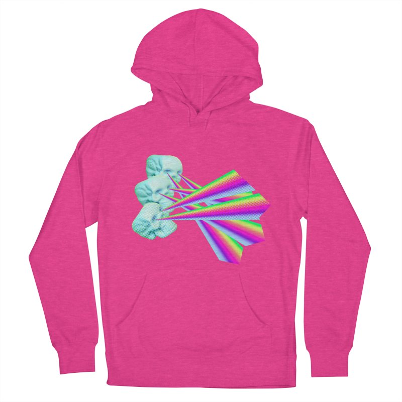 Rainbow Skull Men's French Terry Pullover Hoody by Turkeylegsray's Artist Shop