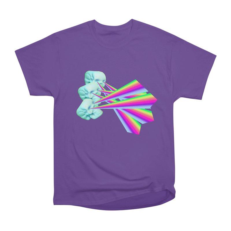 Rainbow Skull Men's Heavyweight T-Shirt by Turkeylegsray's Artist Shop