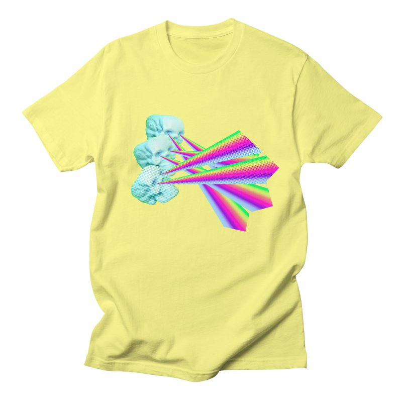 Rainbow Skull Women's Regular Unisex T-Shirt by Turkeylegsray's Artist Shop