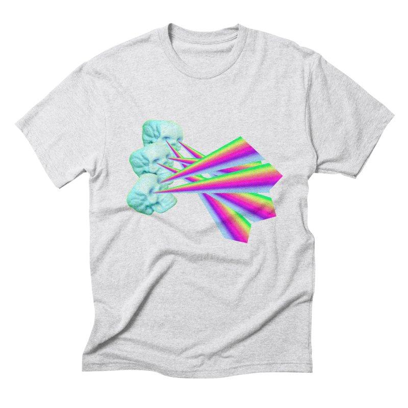 Rainbow Skull Men's Triblend T-Shirt by Turkeylegsray's Artist Shop