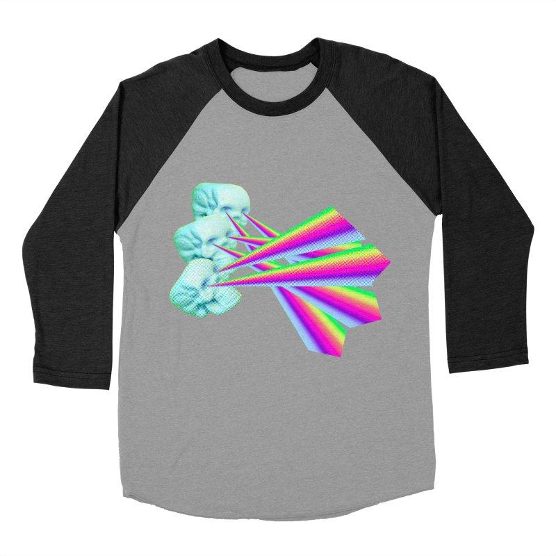 Rainbow Skull Women's Baseball Triblend Longsleeve T-Shirt by Turkeylegsray's Artist Shop