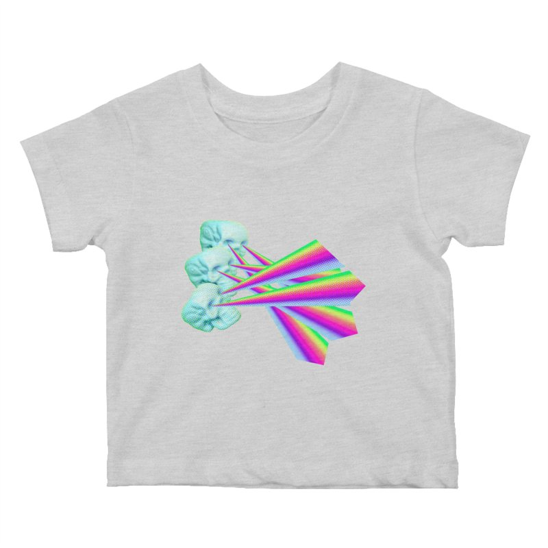 Rainbow Skull Kids Baby T-Shirt by Turkeylegsray's Artist Shop