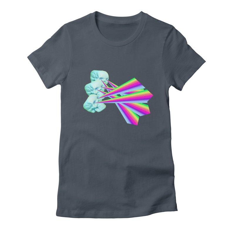 Rainbow Skull Women's T-Shirt by Turkeylegsray's Artist Shop