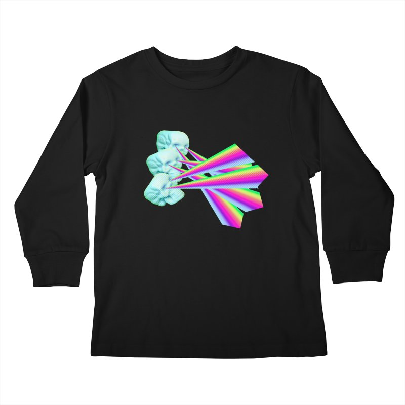 Rainbow Skull Kids Longsleeve T-Shirt by Turkeylegsray's Artist Shop