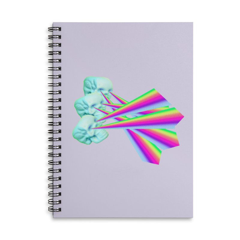 Rainbow Skull Accessories Lined Spiral Notebook by Turkeylegsray's Artist Shop
