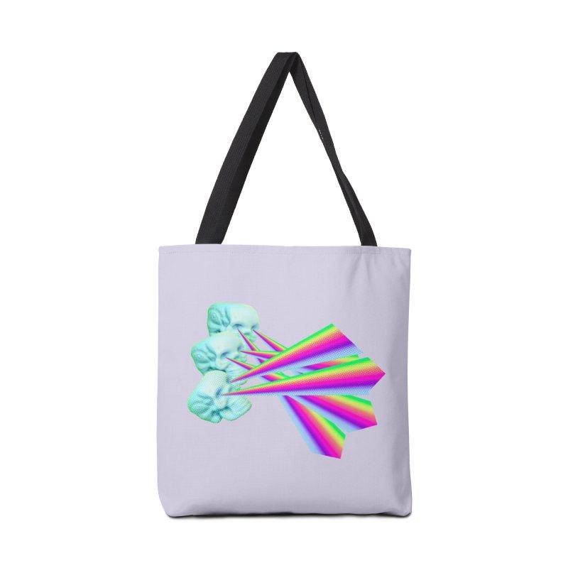 Rainbow Skull Accessories Tote Bag Bag by Turkeylegsray's Artist Shop