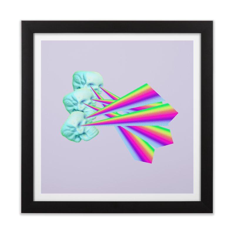 Rainbow Skull Home Framed Fine Art Print by Turkeylegsray's Artist Shop