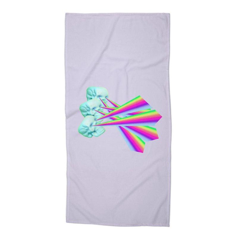 Rainbow Skull Accessories Beach Towel by Turkeylegsray's Artist Shop
