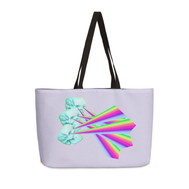 Rainbow Skull Accessories Weekender Bag Bag by Turkeylegsray's Artist Shop