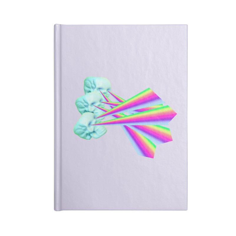 Rainbow Skull Accessories Blank Journal Notebook by Turkeylegsray's Artist Shop