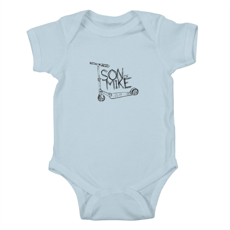 """Son of Mike """"Scooter"""" Kids Baby Bodysuit by Turkeylegsray's Artist Shop"""