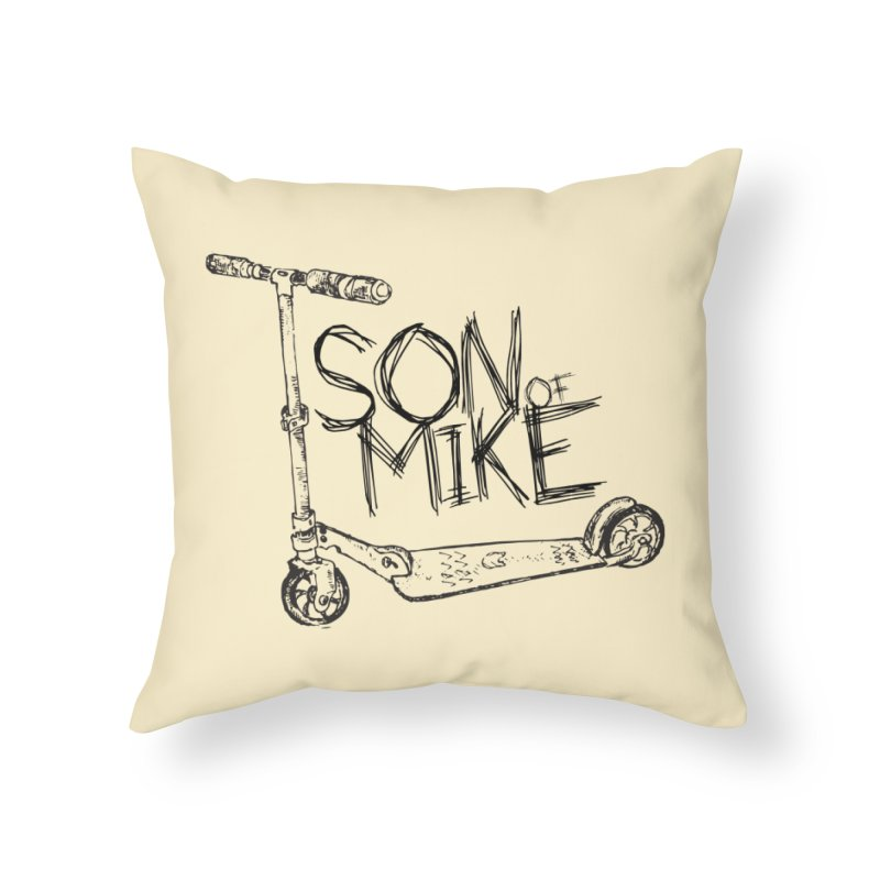 "Son of Mike ""Scooter"" Home Throw Pillow by Turkeylegsray's Artist Shop"