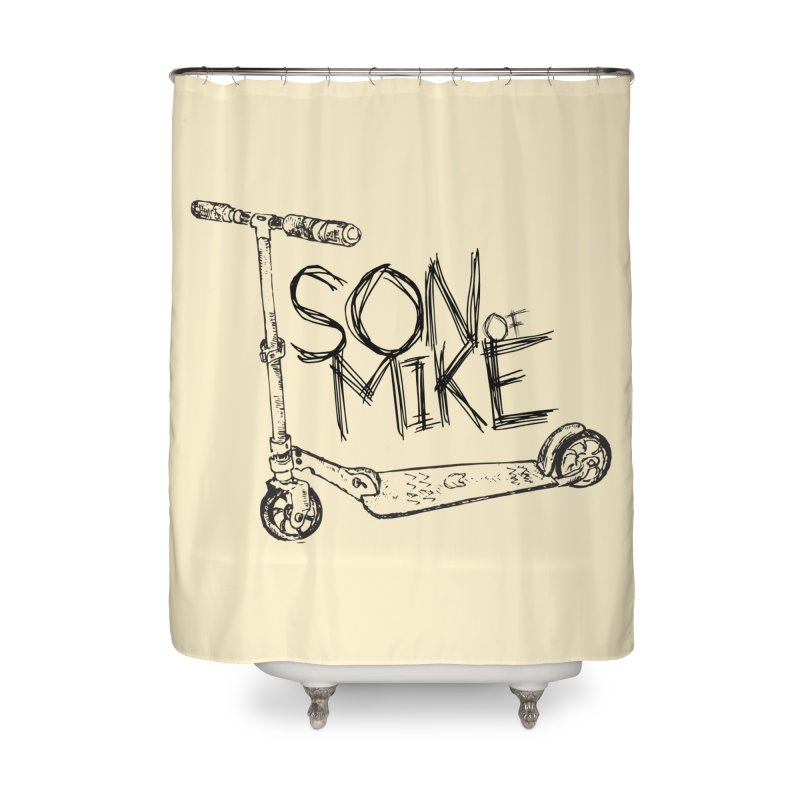 """Son of Mike """"Scooter"""" Home Shower Curtain by Turkeylegsray's Artist Shop"""