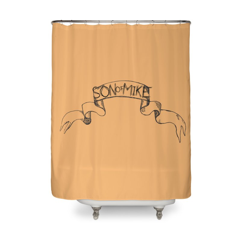 """Son of Mike """"Banner"""" Home Shower Curtain by Turkeylegsray's Artist Shop"""