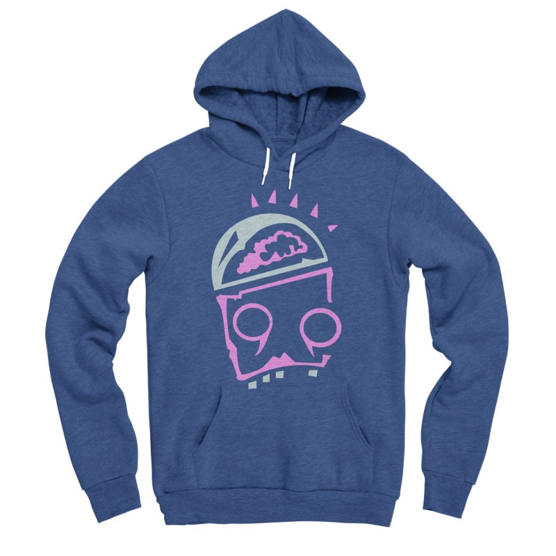 Robot Brain Men's Sponge Fleece Pullover Hoody by Turkeylegsray's Artist Shop