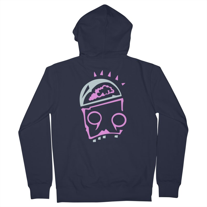 Robot Brain Men's French Terry Zip-Up Hoody by Turkeylegsray's Artist Shop