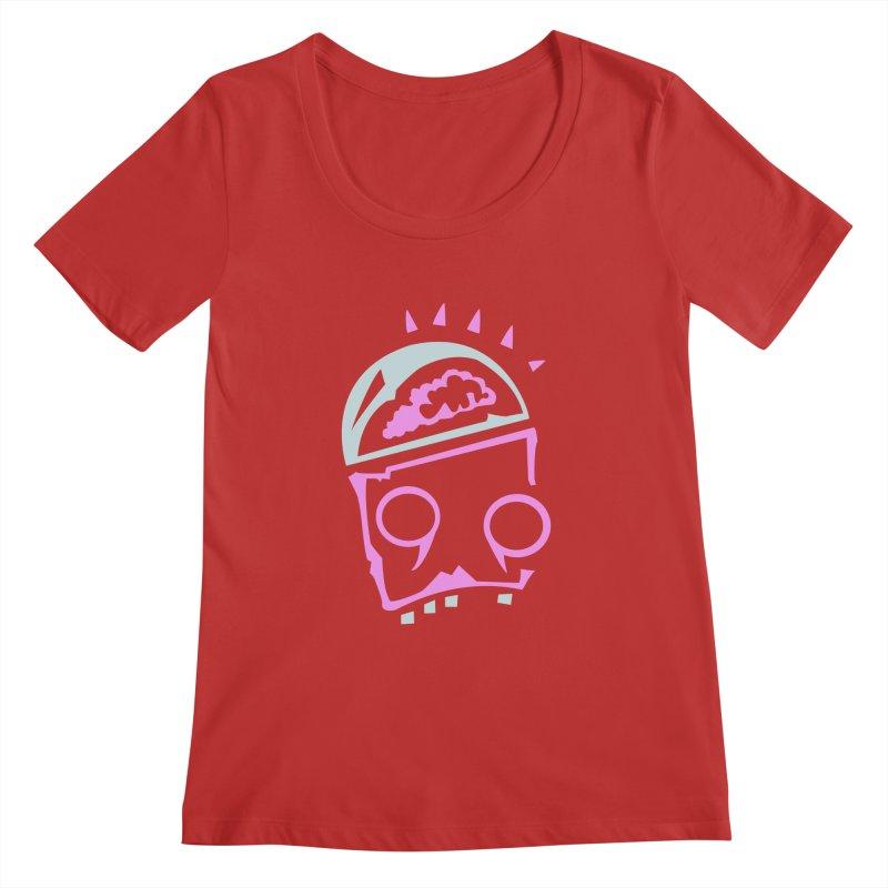 Robot Brain Women's Regular Scoop Neck by Turkeylegsray's Artist Shop