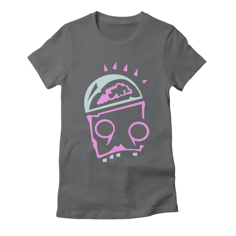 Robot Brain Women's Fitted T-Shirt by Turkeylegsray's Artist Shop