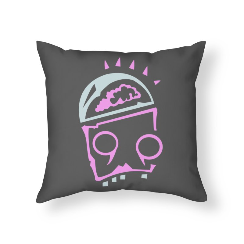 Robot Brain Home Throw Pillow by Turkeylegsray's Artist Shop