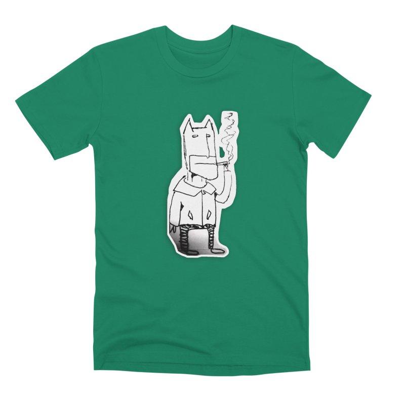 Batman Smoking Men's Premium T-Shirt by Turkeylegsray's Artist Shop