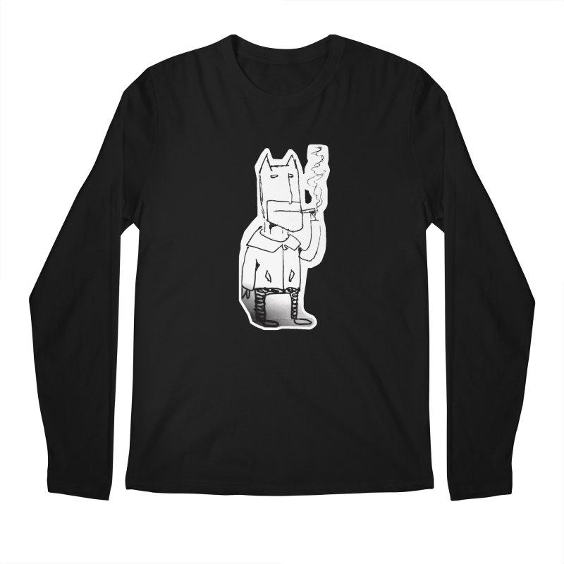 Batman Smoking Men's Regular Longsleeve T-Shirt by Turkeylegsray's Artist Shop