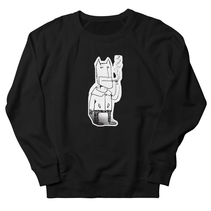 Batman Smoking Men's French Terry Sweatshirt by Turkeylegsray's Artist Shop